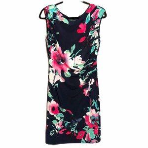 Lauren Ralph Lauren Navy Floral Watercolor Dress